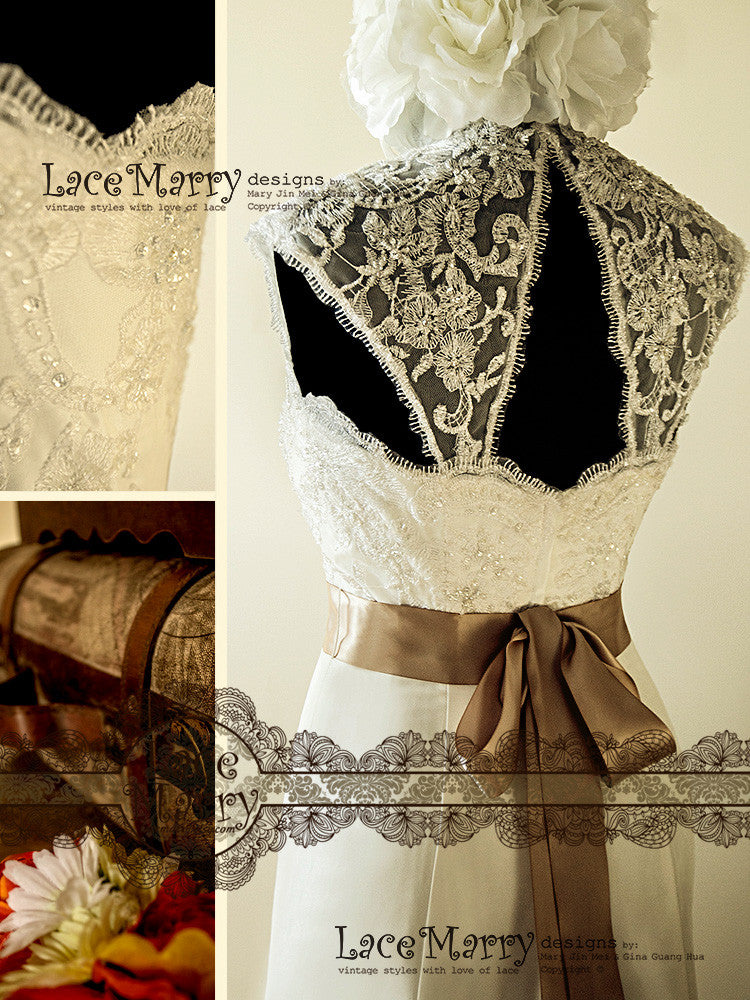 Lace Wedding Dresses with Sash