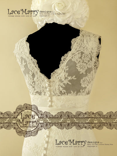 Delicate Handmade Lace Wedding Dress