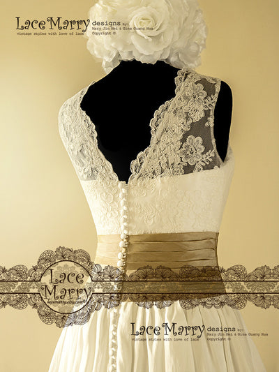 Handmade Vintage Inspired Lace Wedding Dress
