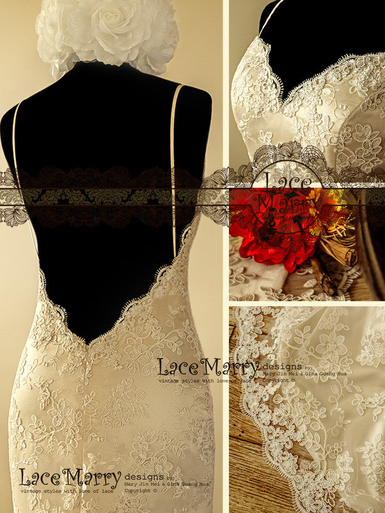 Sweetheart Shape Neckline Vintage Inspired Wedding Dress