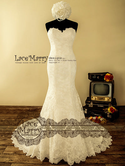 Sweetheart Neckline Strapless Wedding Dress