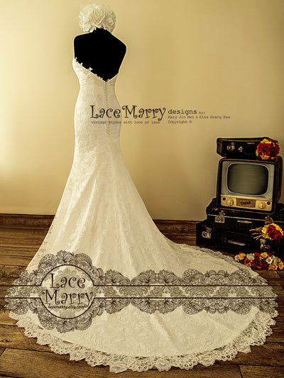 Vintage Inspired Handmade Lace Wedding Dress