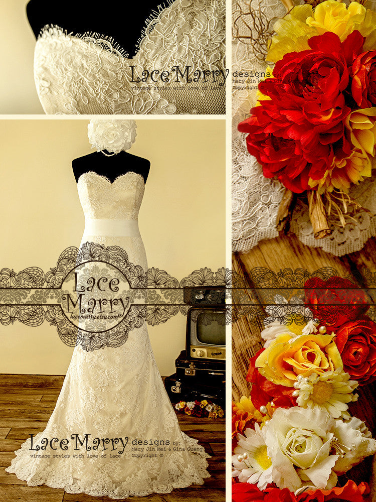 Luxury Golden Wedding Dress