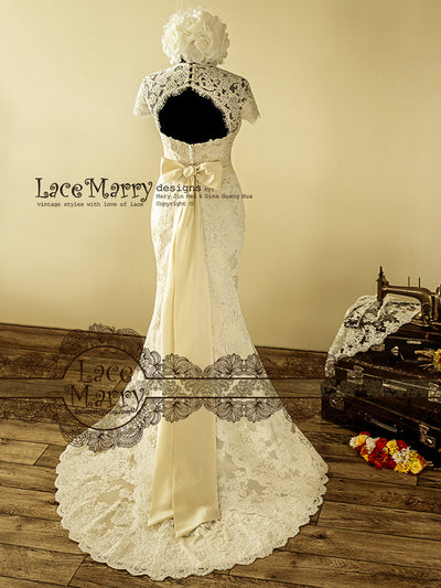 Gorgeous Handmade Lace Wedding Dress