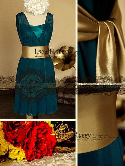 Vintage Style Chiffon Bridesmaid Dress