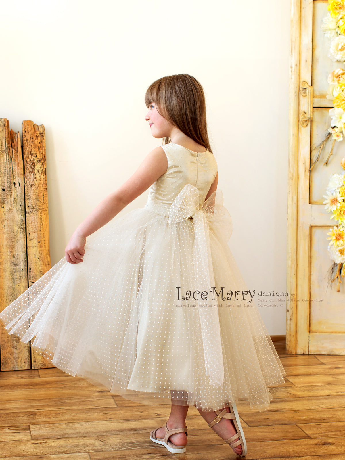 Flower Girl Dress with Big Bow