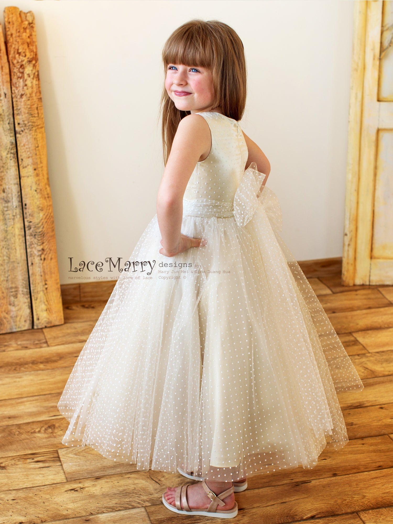 Polka Dot Small Princess Dress
