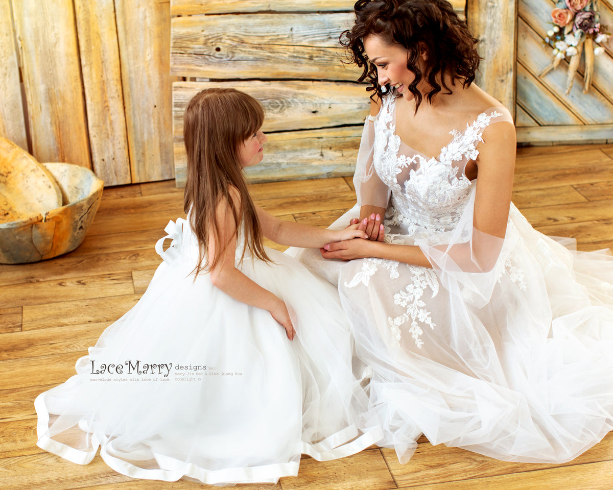 Charming Flower Girl Dress with Playful Tulle Skirt