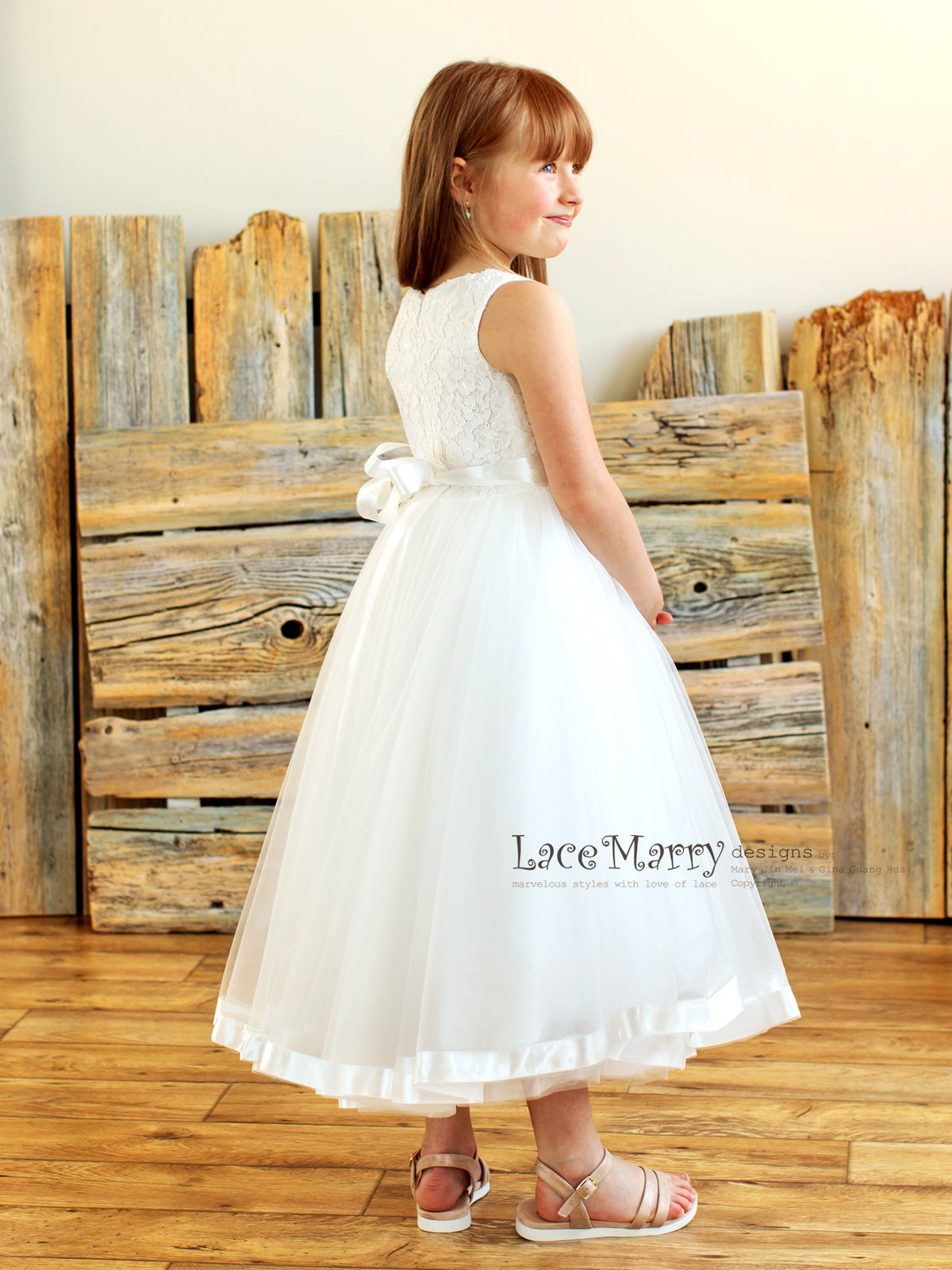 Lace and Tulle Junior Bridesmaid Dress
