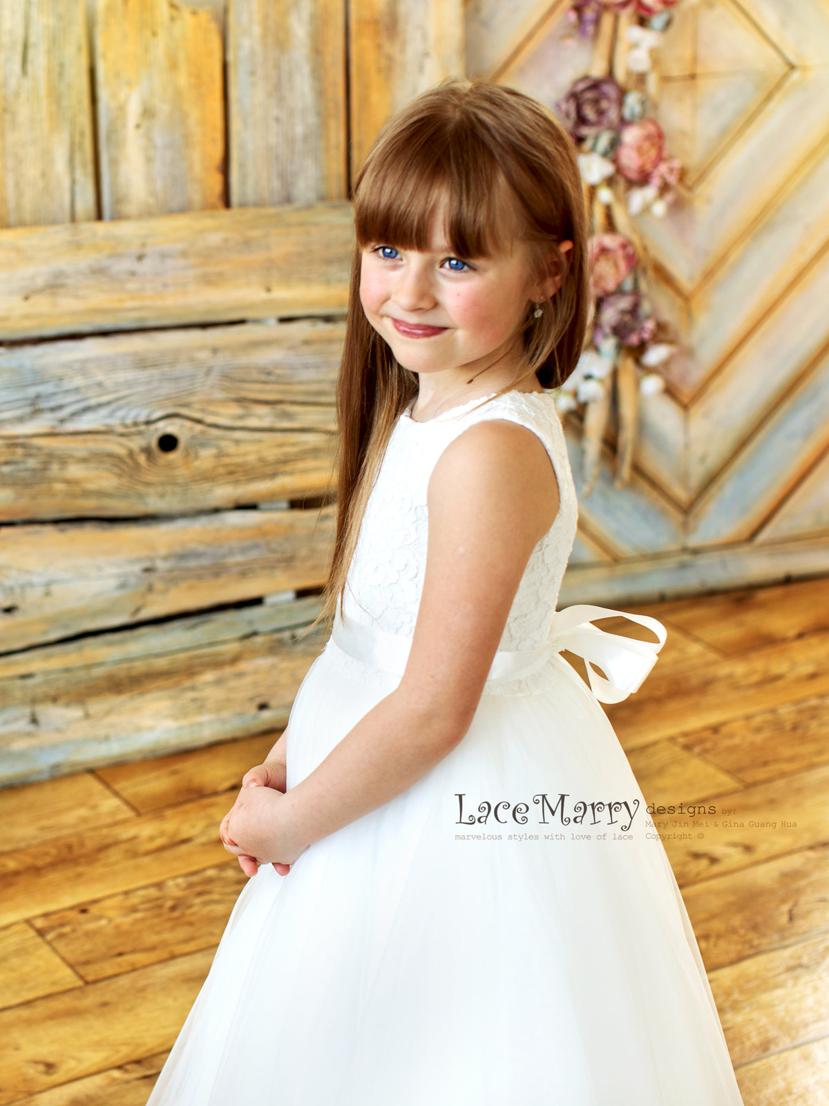 Little Princess Dress in Ivory Color