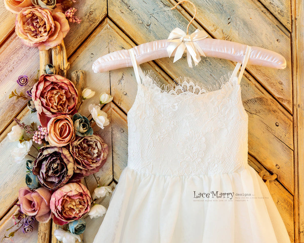 Flower Girl Dress with Lace Top