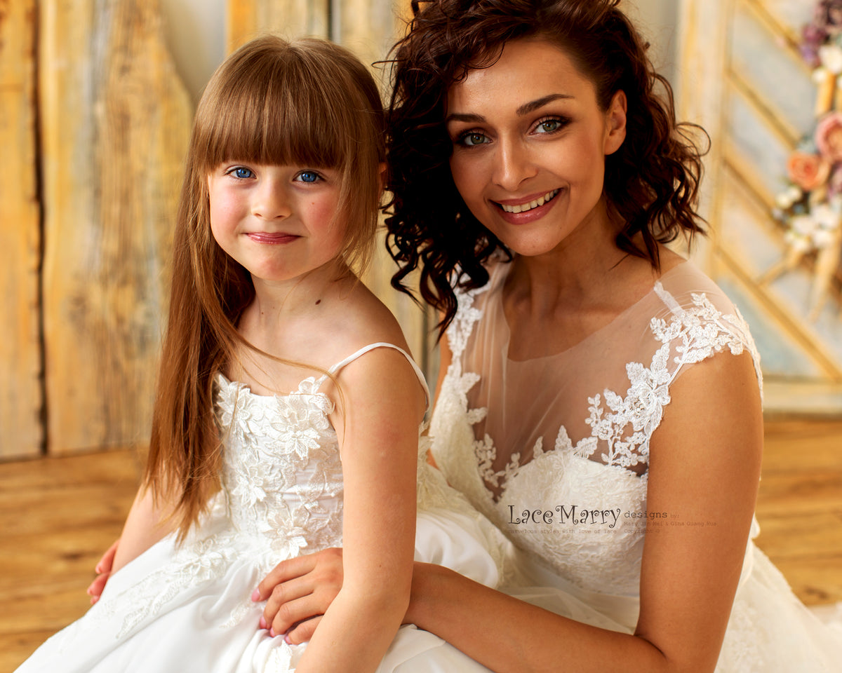 Matching Flower Girl Dress with Your Wedding Dress