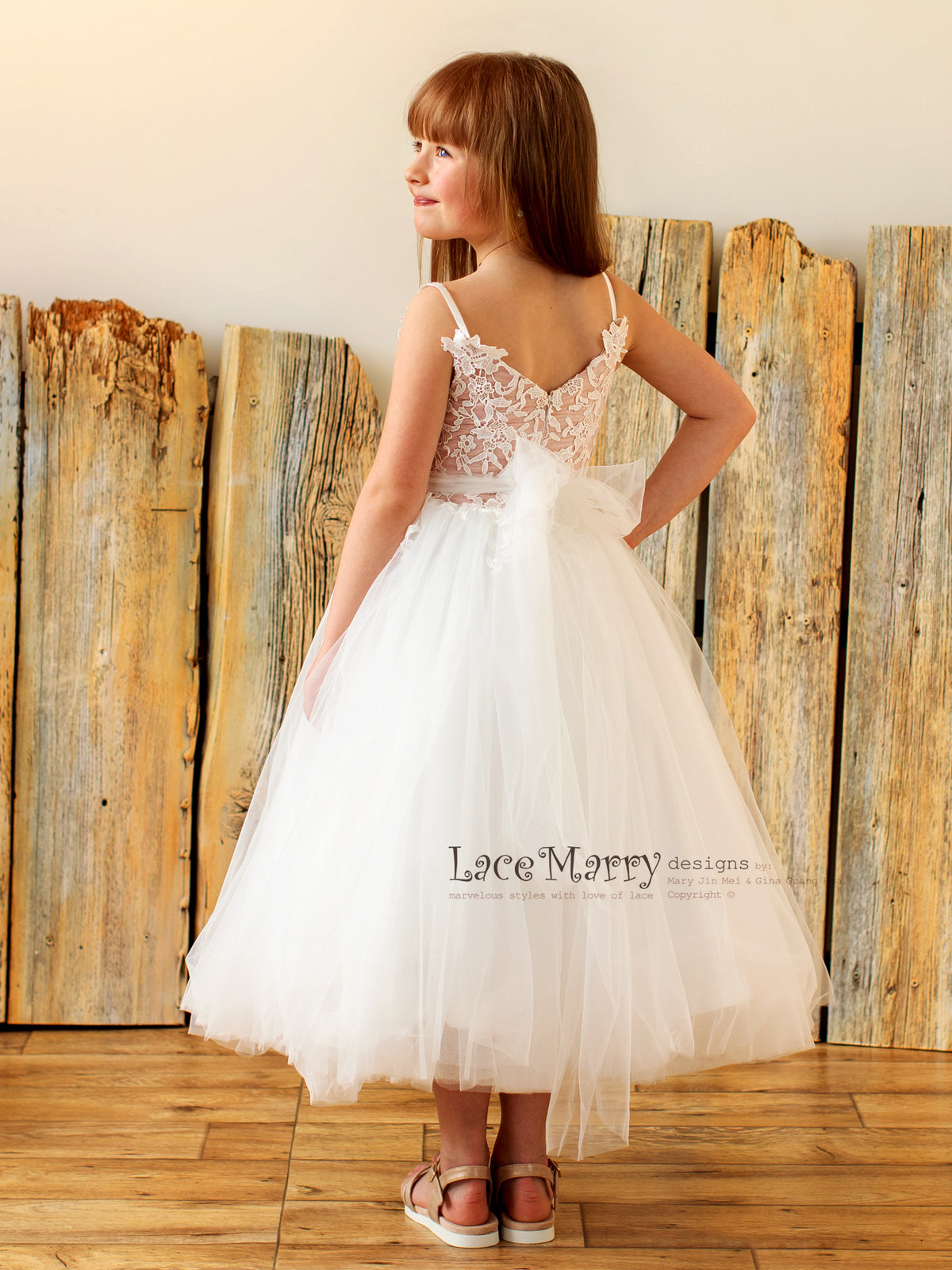 Tutu Tulle Skirt Flower Girl Dress