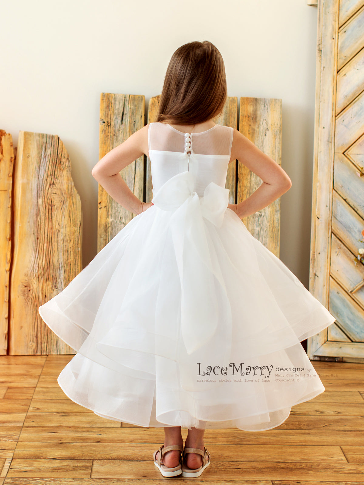 Large Bow and Big Skirt Little Girl Dress