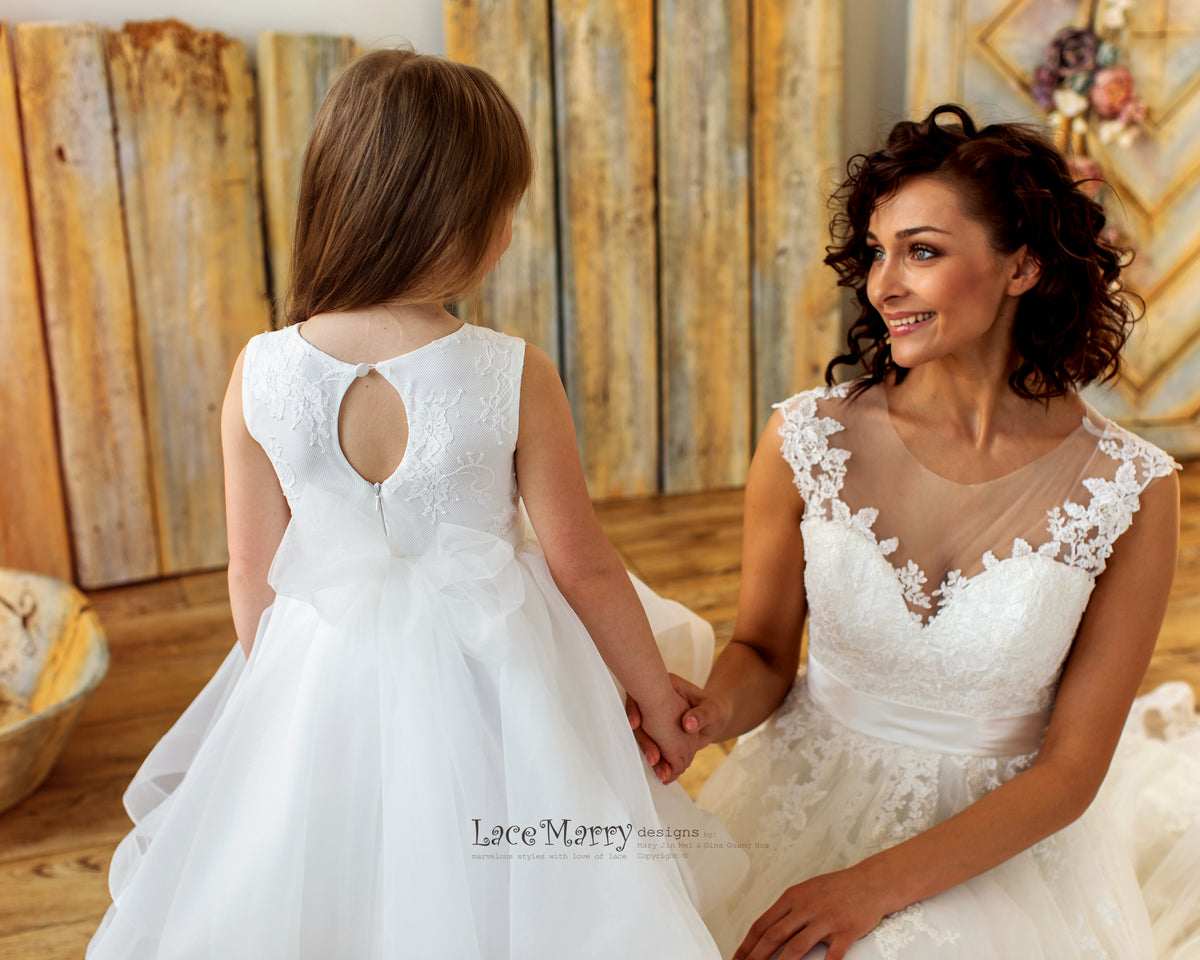 Keyhole Back Flower Girl Dress