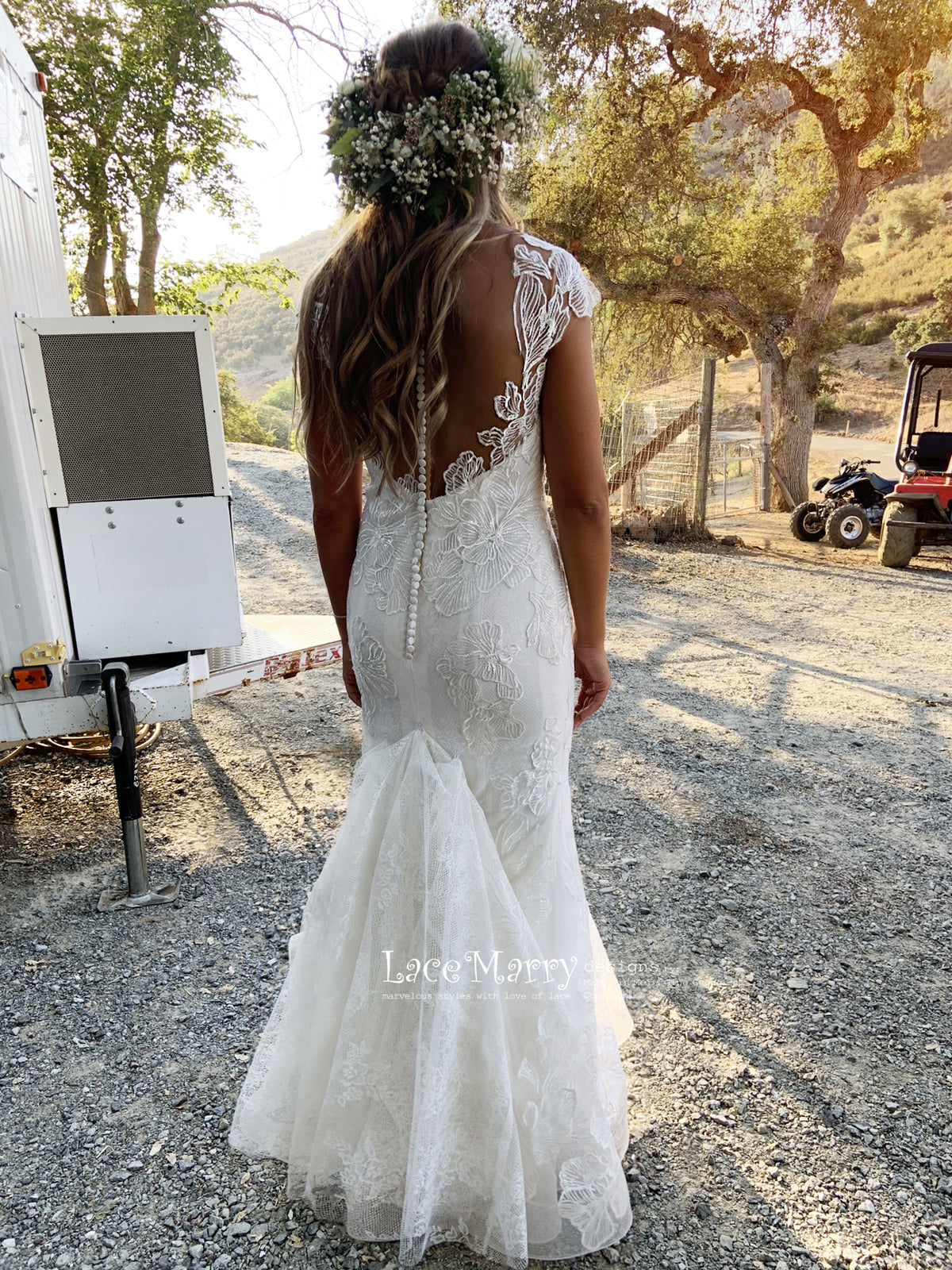 Lace Wedding Dress Custom Made