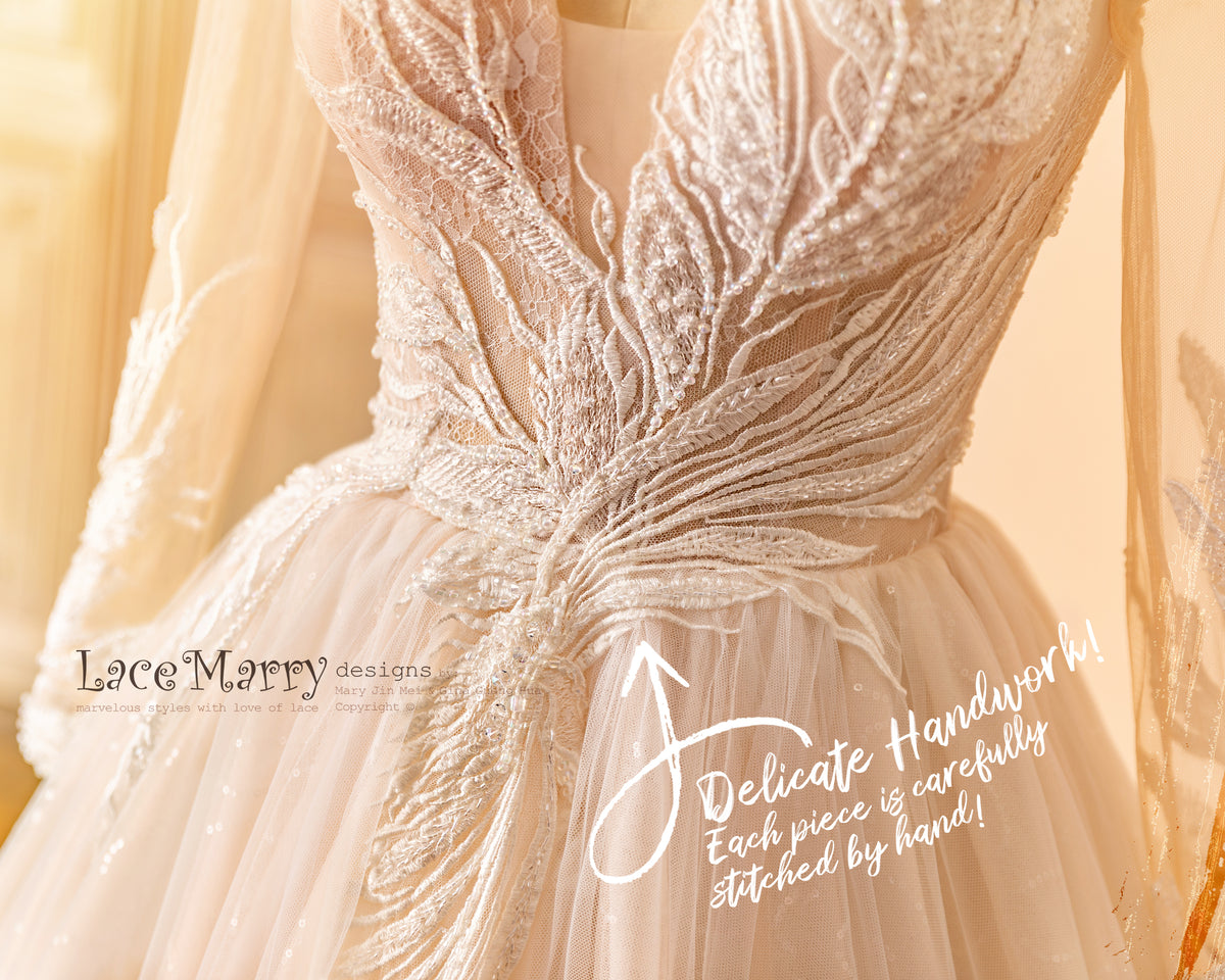Beautiful Detail Handmade Wedding Dress