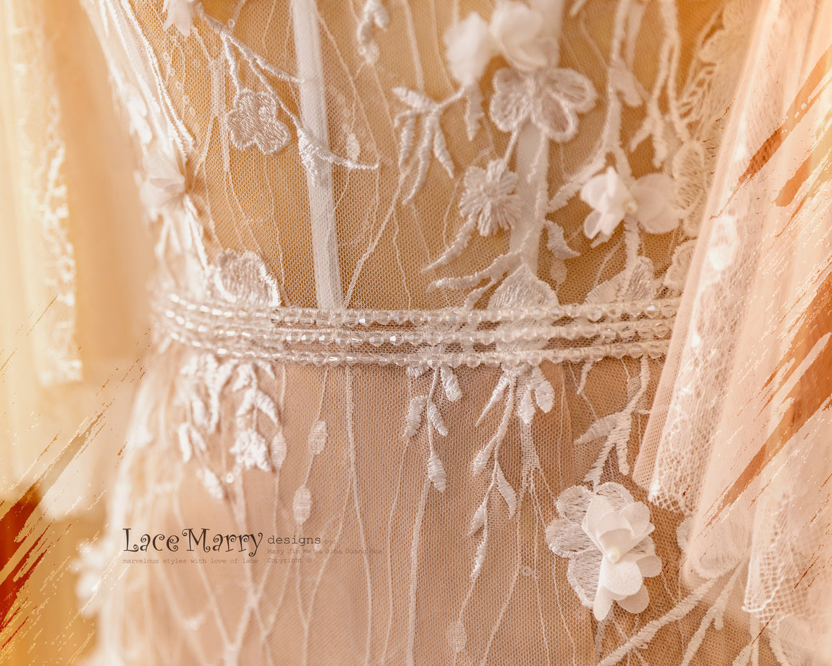 Lace and Beading Detail