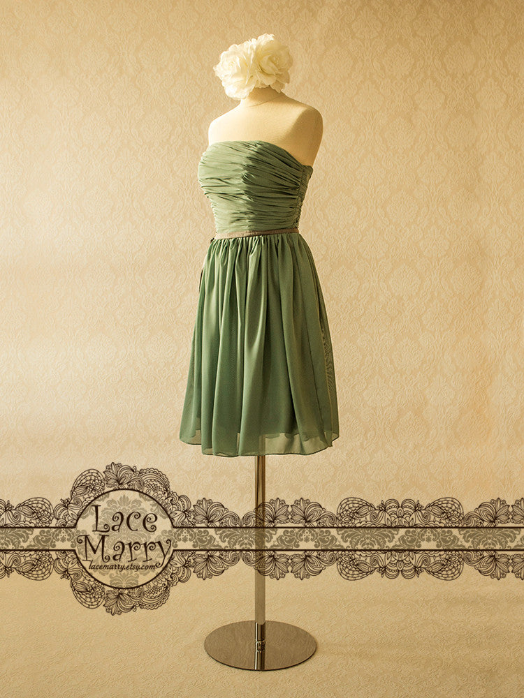 Pale Mint Chiffon Bridesmaid Dress