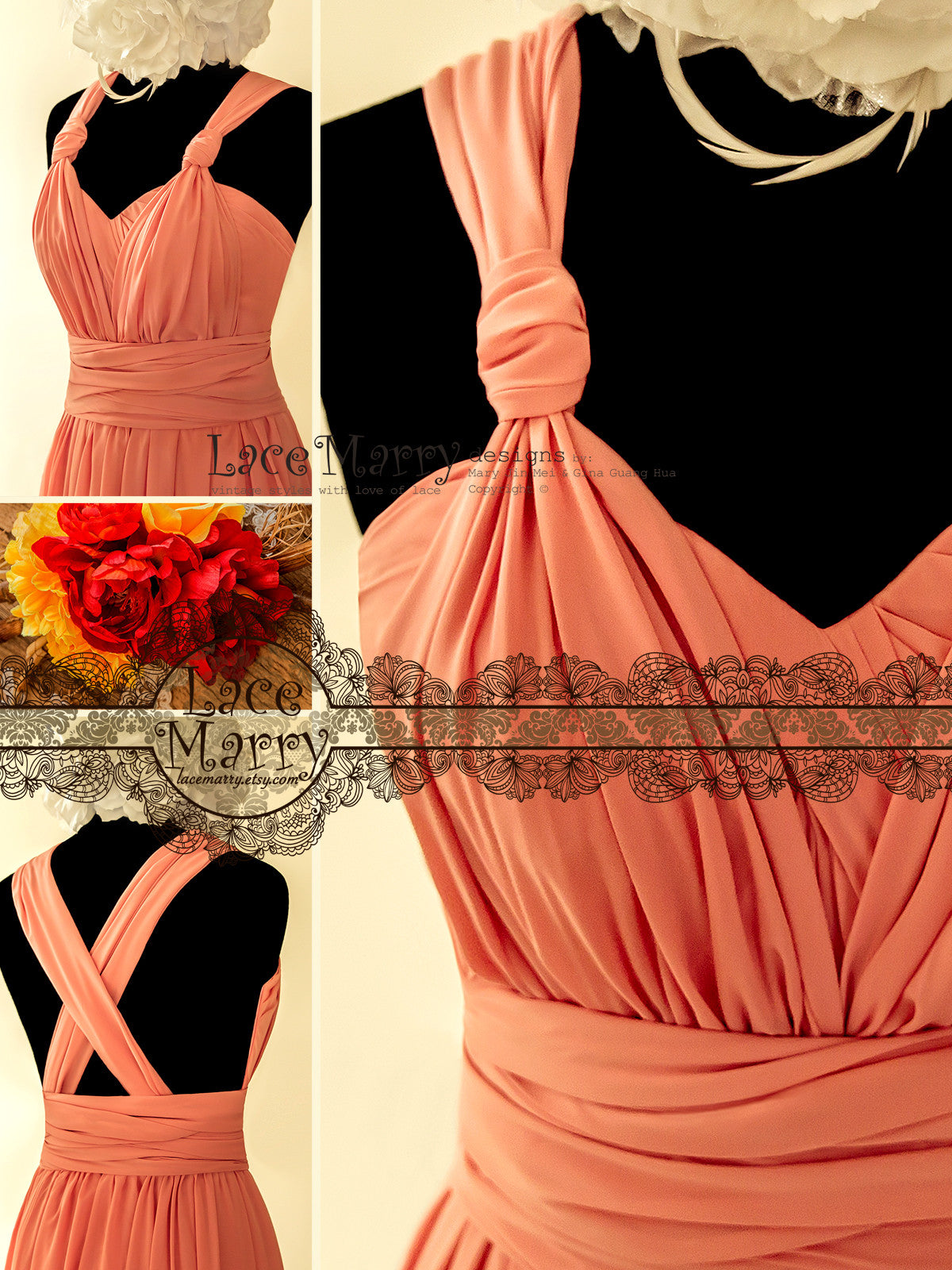 Coral Color Prom Dress