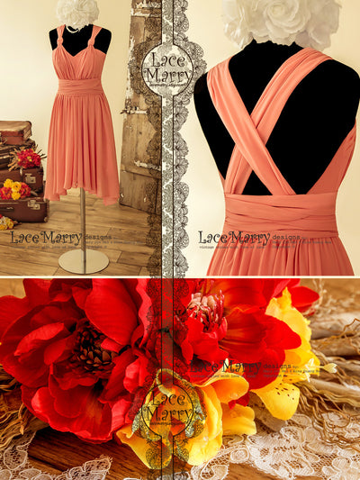 Convertible Short Chiffon Prom Dress