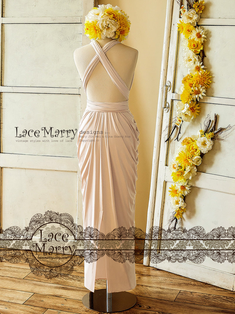 Nude Blush Infinity Dress for Bridesmaids Party