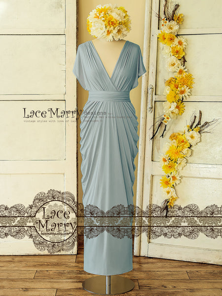 Long Convertible Bridesmaid Dress