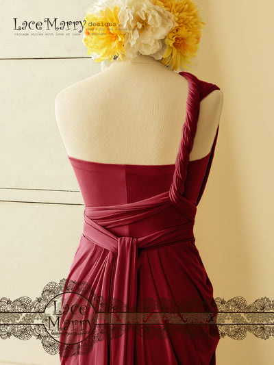 Multiway Marsala Red Dress