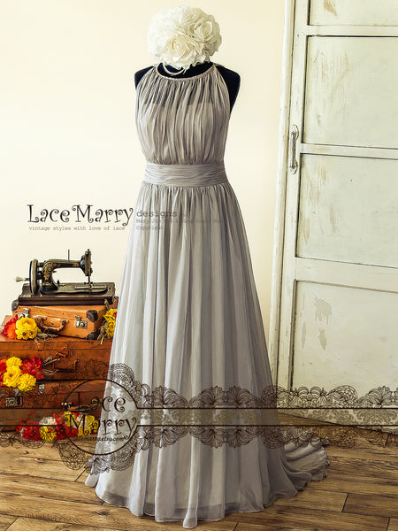Ash Gray Bridesmaid Dress