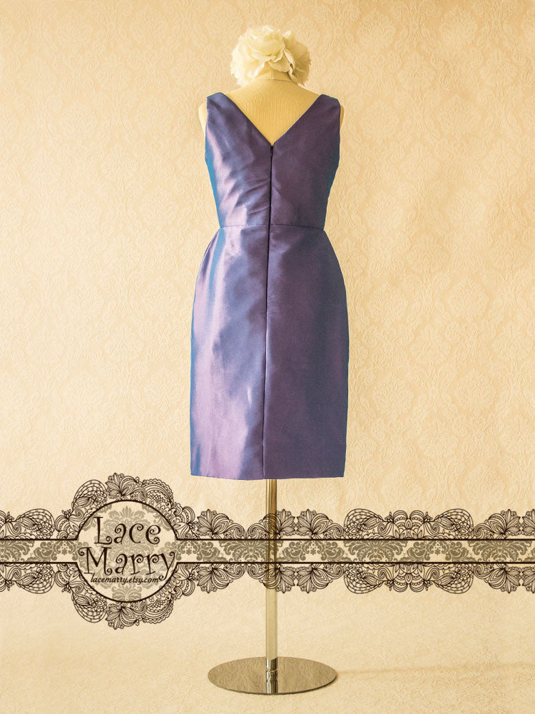 Purple Bridesmaids Dress with Straps