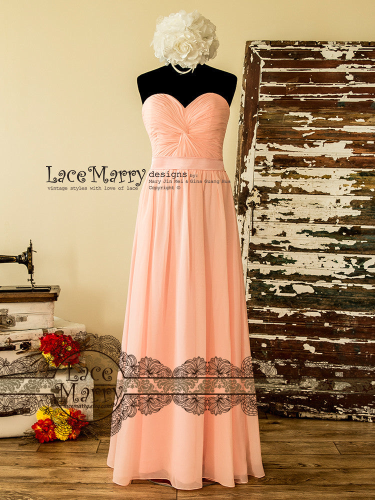 Pale Pink Bridesmaid Dress