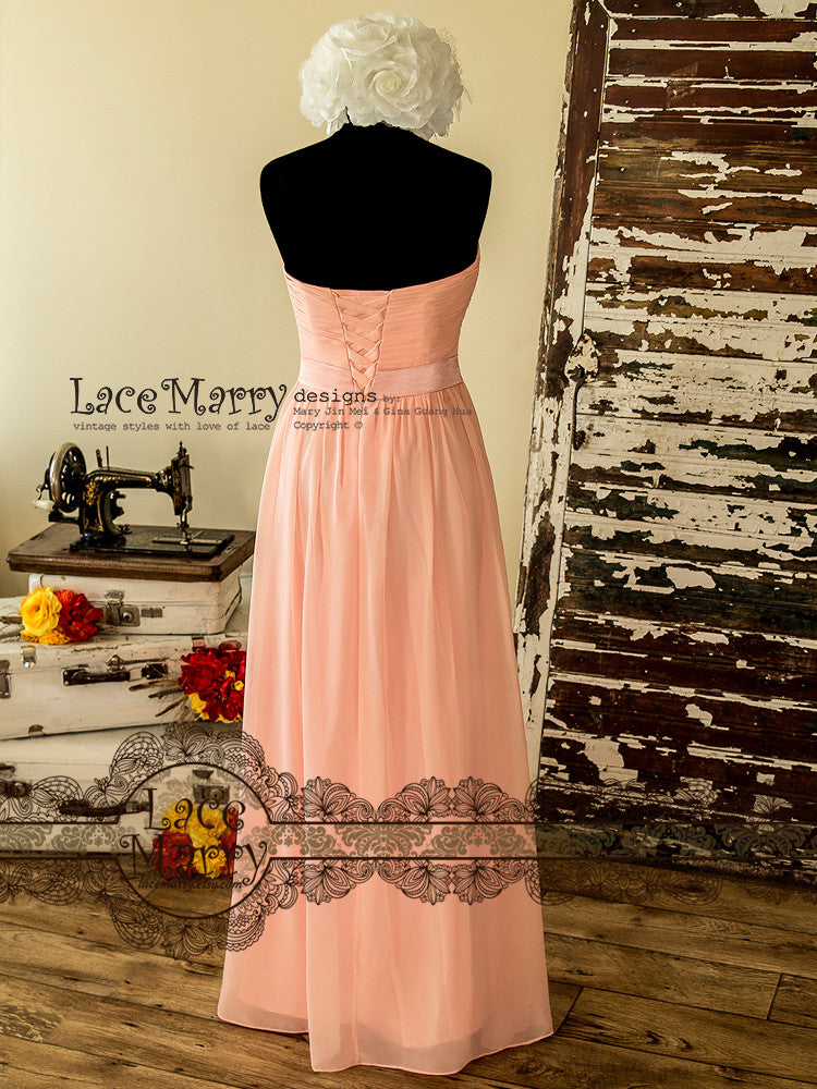 Long Bridesmaid Dress in Empire Waist