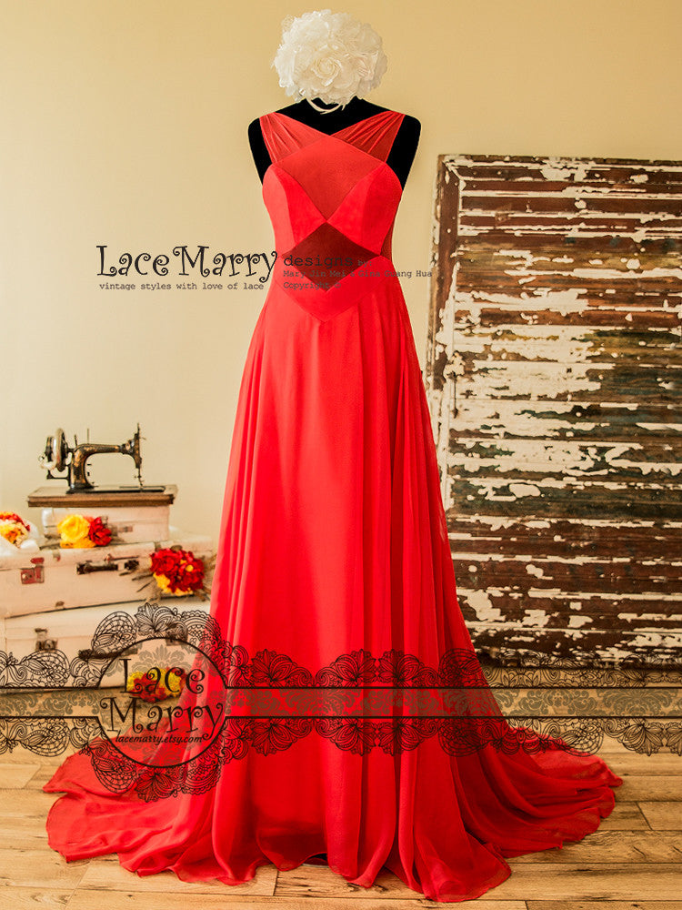 Red Sexy Prom Dress