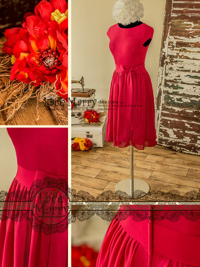 Short Chiffon Bridesmaid Dress