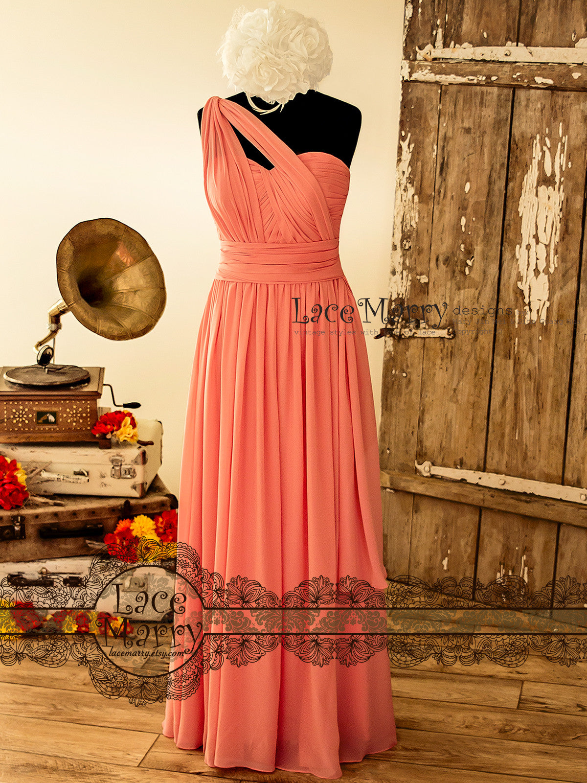 Convertible Chiffon Bridesmaid Dress