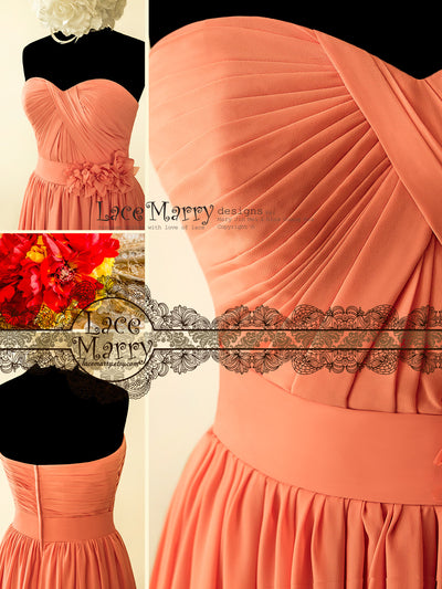 Bridesmaid Dress with Criss Cross Sweetheart Neckline