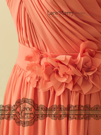 Bridesmaid Dress with Criss Cross Pleats