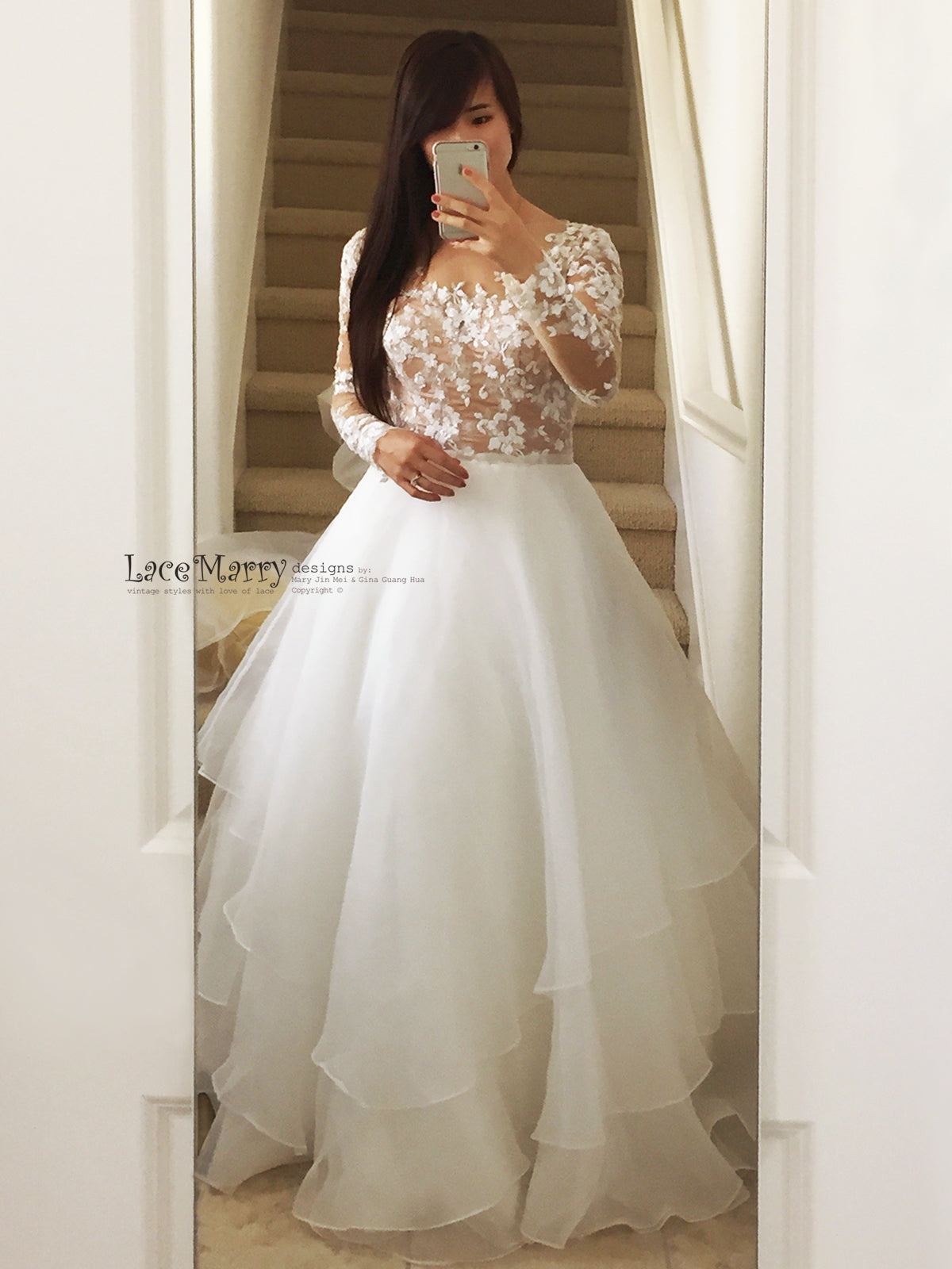Exclusive Beaded Transparent Wedding Dress