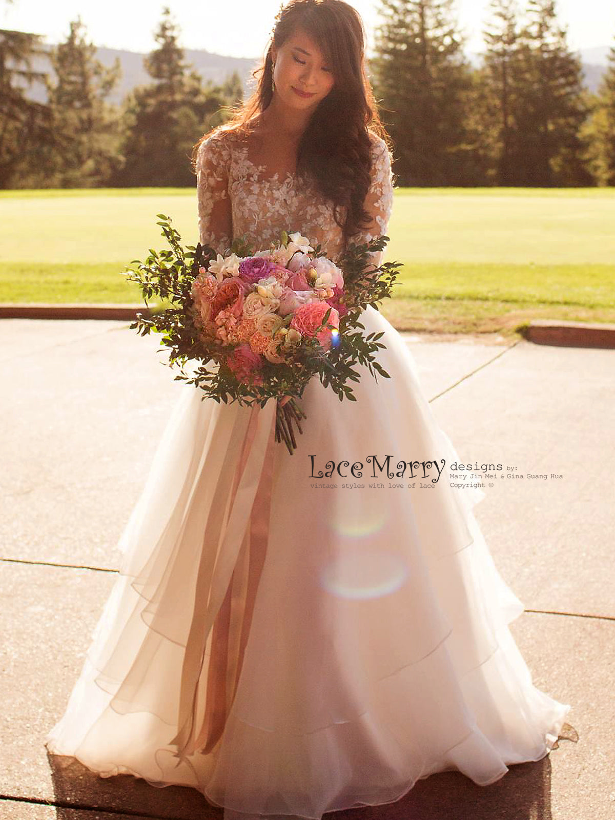 Illusion Nude Top Lace Wedding Dress