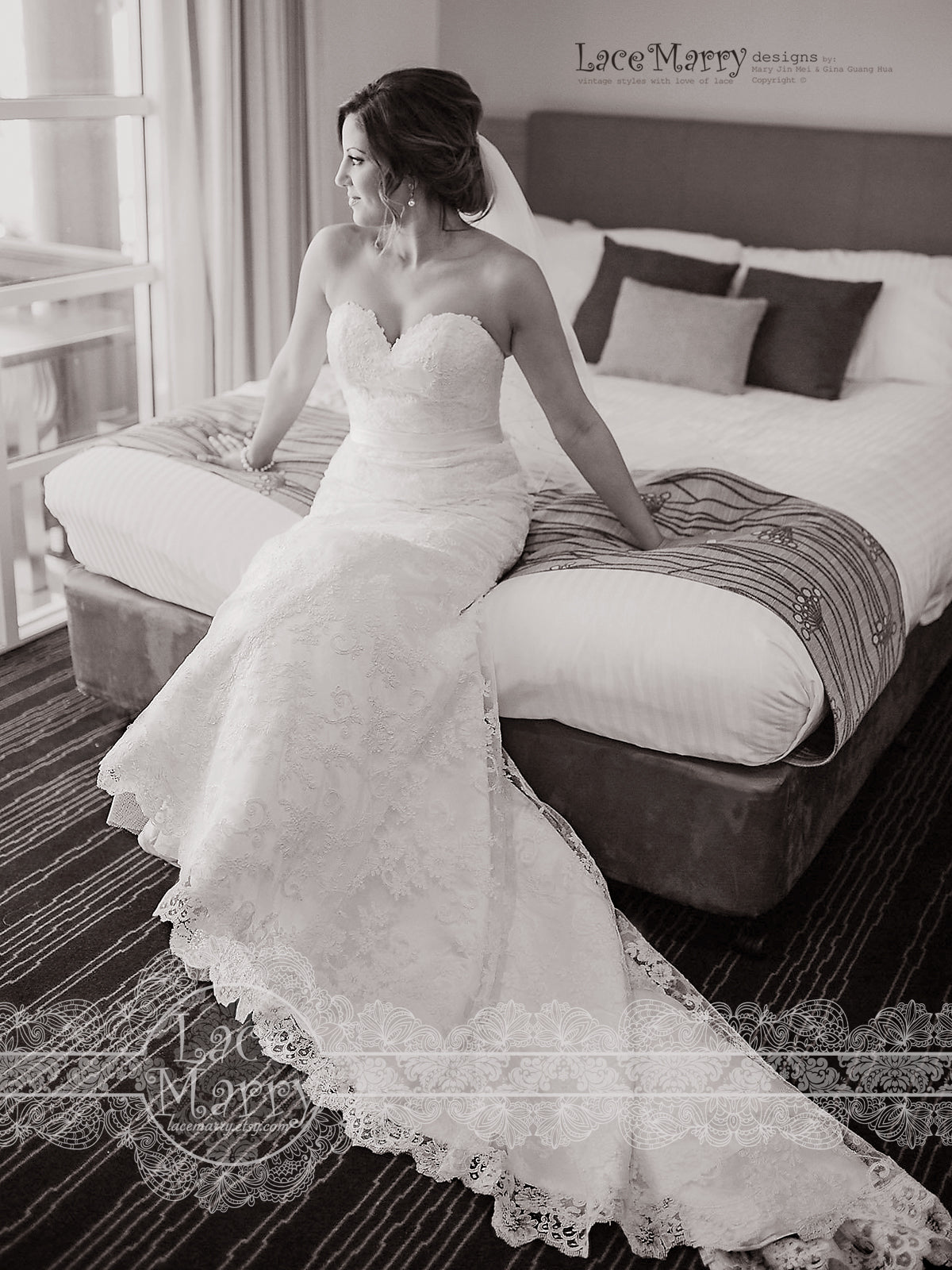 Exquisite Lace Wedding Dress with Cathedral Train