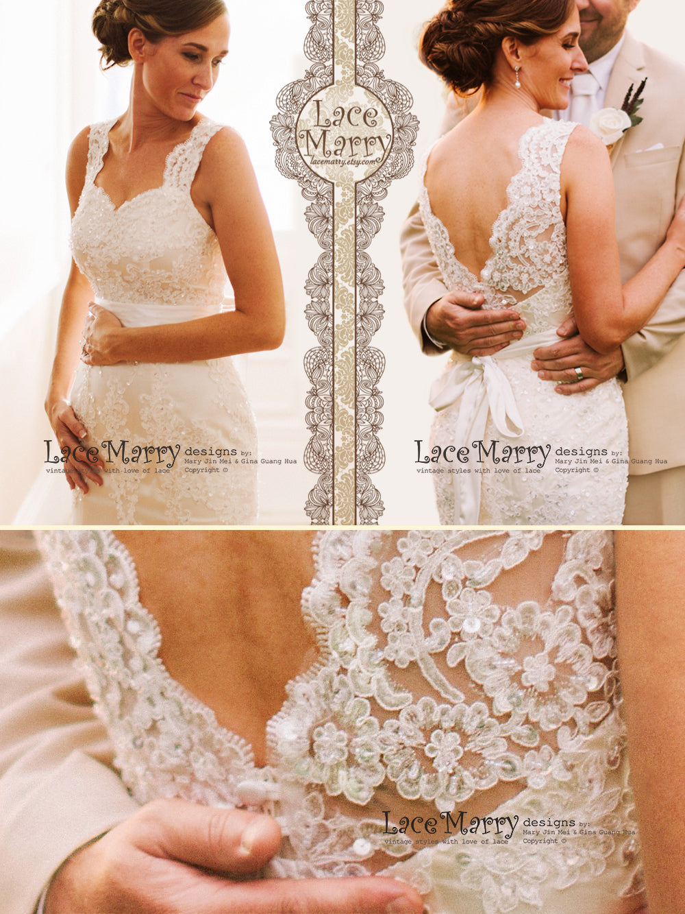 Gorgeous Fit and Flare Shape Wedding Dress with Beading