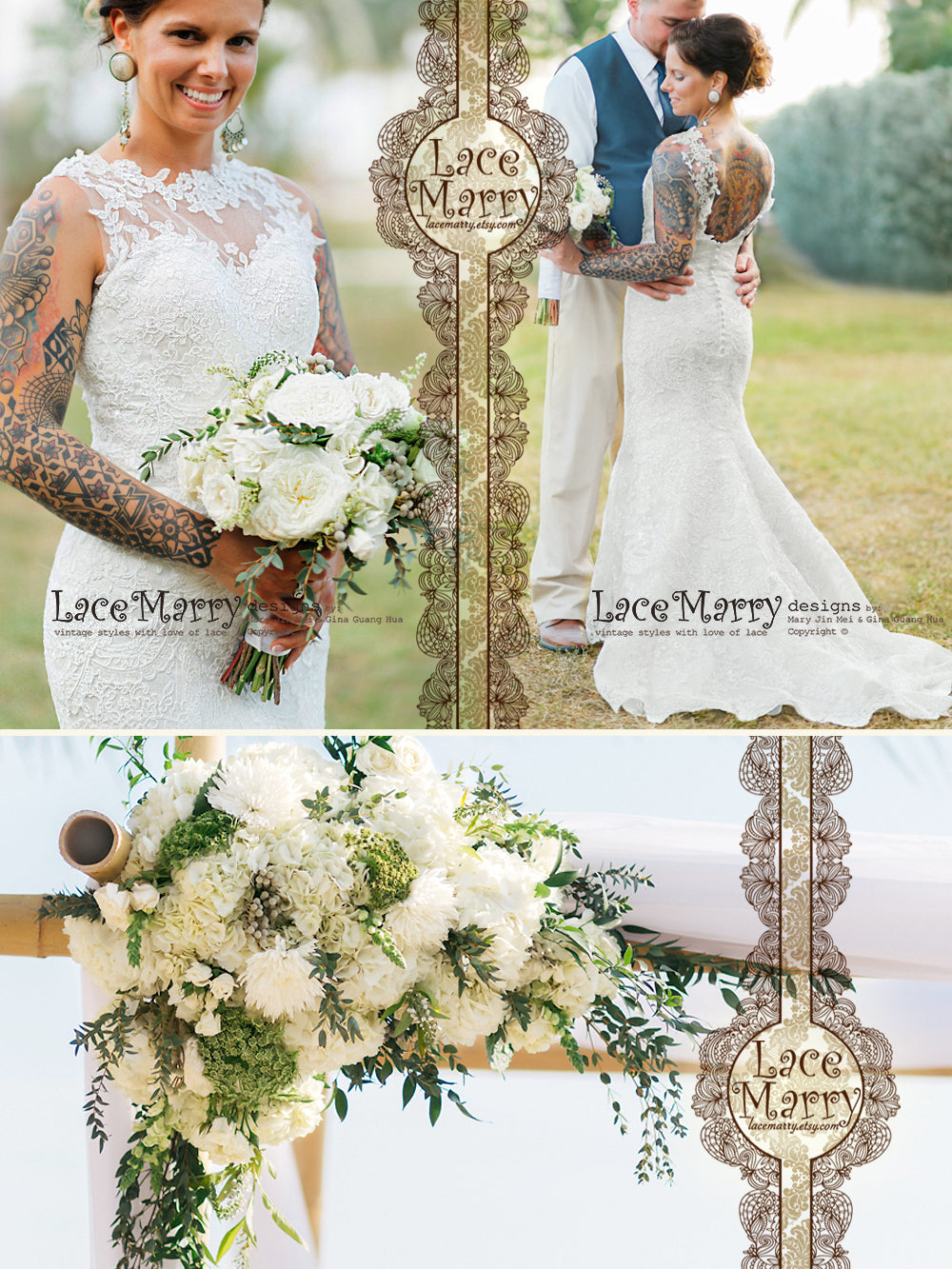 Fitted Lace Wedding Dress With Hand Sewn Appliqu Sweetheart