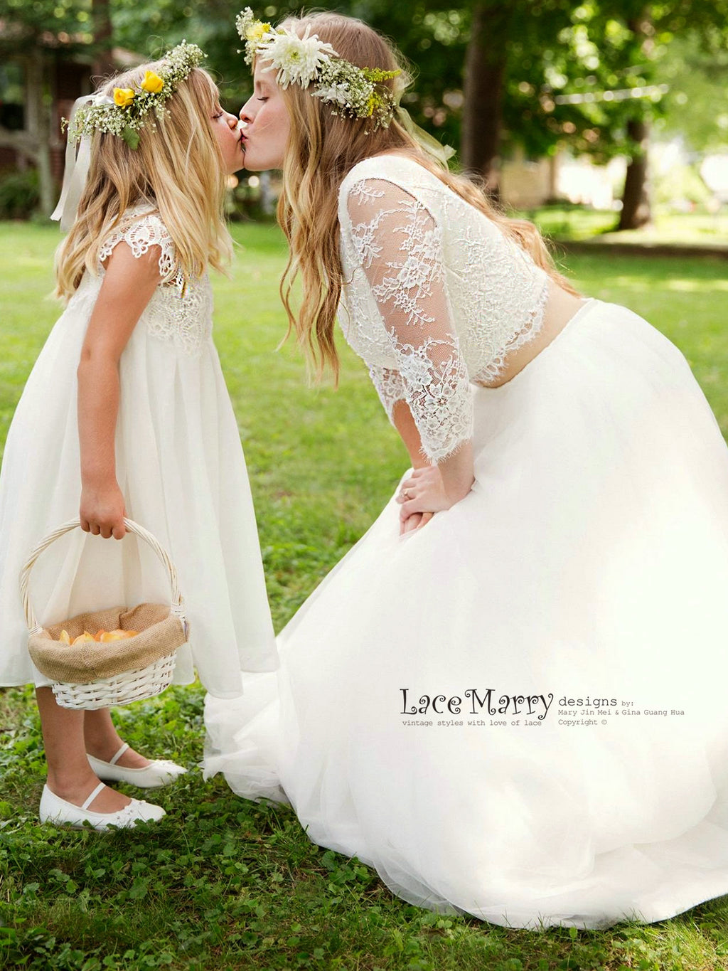 Custom Made Vintage Style Lace Wedding Skirts by LaceMarry