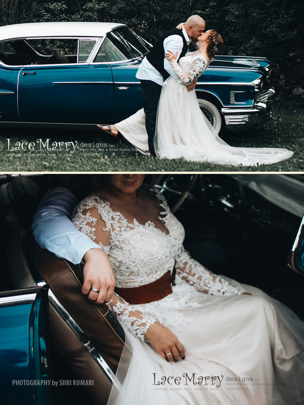 Elegant Boho Wedding Dress with Long Lace Sleeves