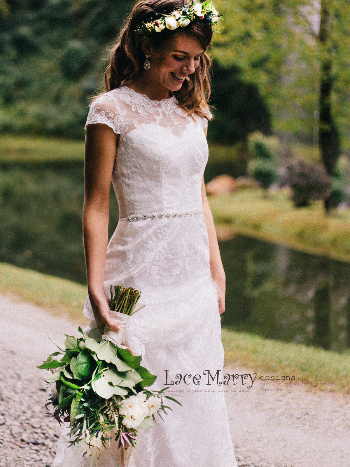 Sheath Lace Wedding Dress