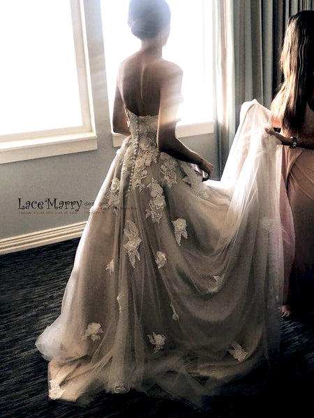 e3bbfcde9df Custom Made Vintage Style Lace Wedding Dresses by LaceMarry