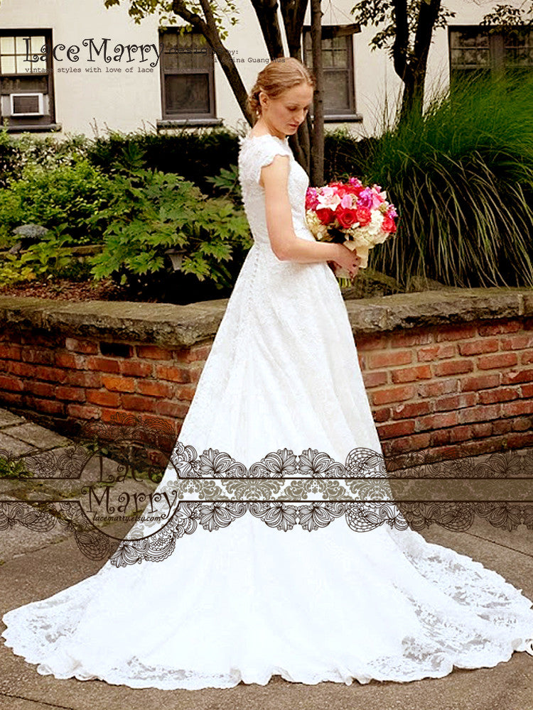 Custom Made Elegant Wedding Dress