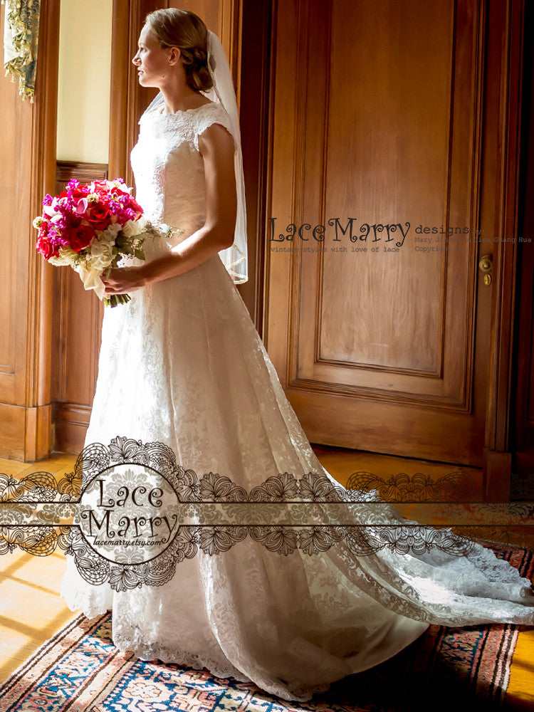 Custom Made LaceMarry Wedding Dress
