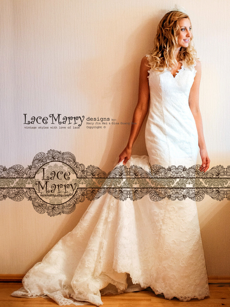Alencon Lace Gorgeous Wedding Dress