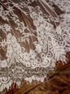 Wedding Dress with Elaborated Floral Ornaments Chantilly Lace